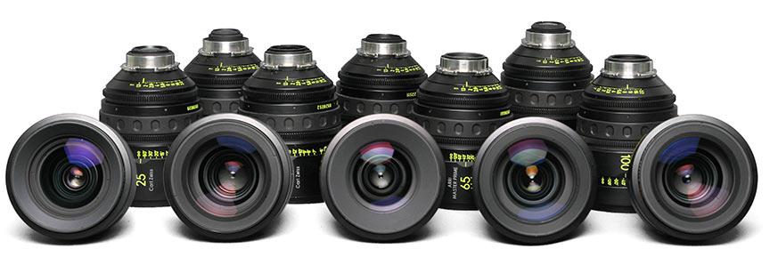 Alquiler ópticas de cine Arri Zeiss Cooke Angenieux Fujinon Kowa Canon - Camaleon rental